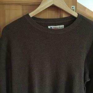 Lucky Brand Crewneck Brown Sweater